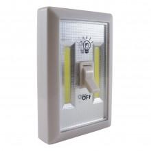 Luce led doppio di cortesia interruttore COB bianca a batterie AAA magnetica