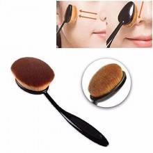 Pennelli makeup ovali manico comodo flessibile spazzola brush multiuso cosmesi
