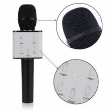 Microfono wireless bluetooth cassa integrata echo batteria karaoke altoparlante