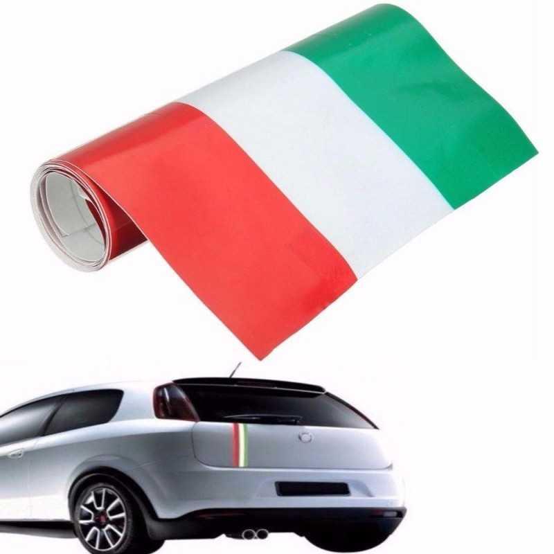 ITALIA Striscia Adesiva nastro vinile decal auto moto tuning bandiera 15cm x 5m