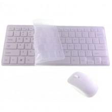 Tastiera wireless mouse senza fili ricevitore USB batterie copertura silicone