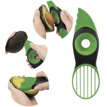Taglia affetta avocado snocciola 3 in 1 affettatore verde lama scovolino