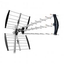Antenna TV digitale terrestre 43 elementi 105cm alluminio protezione LTE 4G