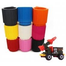 Tazza in plastica costruzioni montaggio mattoncini personalizzabile creativa