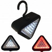 Lampada da lavoro gancio e magnete 15 + 20 LED compatta torcia riparazioni SOS