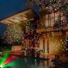 Proiettore Luci Natalizie Opinioni.Proiettore Natalizio Luci Led Rosso Verde Caleidoscopio Festa Natale Esterno