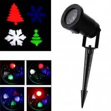 Proiettore natalizio luci led rosso verde caleidoscopio festa natale esterno