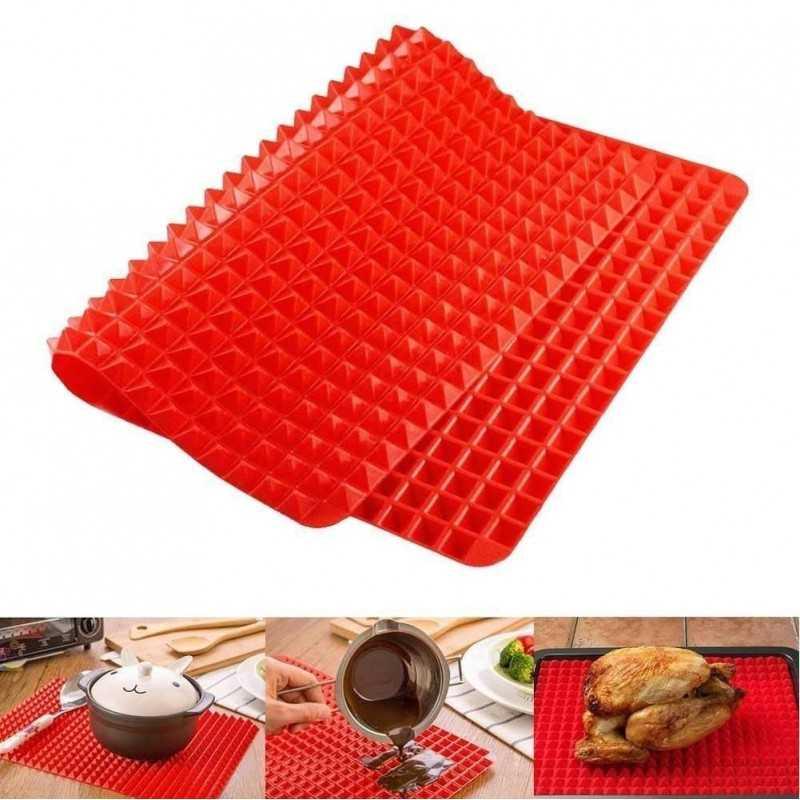 Tappetino in silicone cucina riduci grassi cottura forno piramidi antiaderente