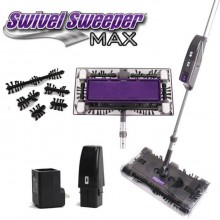 Scopa elettrica con batteria ricaricabile e manico snodabile  Swivel Sweeper MAX (4 spazzole rotanti)