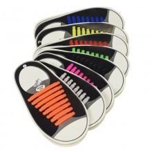 Lacci per scarpe elastici stringhe colorati niente nodi silicone facile veloci