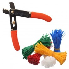 Set fascette da elettricista con spellafili e taglia fascette vario colore