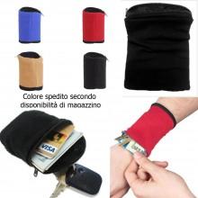 Portafogli da polso colorato wallet zip lampo comodo leggero caldo sport corsa