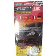 Luci a led 10 per auto 2 strisce adesive flessibili tuning a batteria estetiche