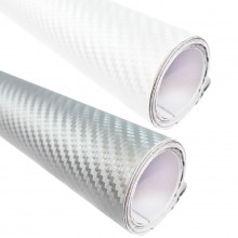 Adesivi fibra di carbonio per auto moto grigio bianco sticker tuning carrozzeria