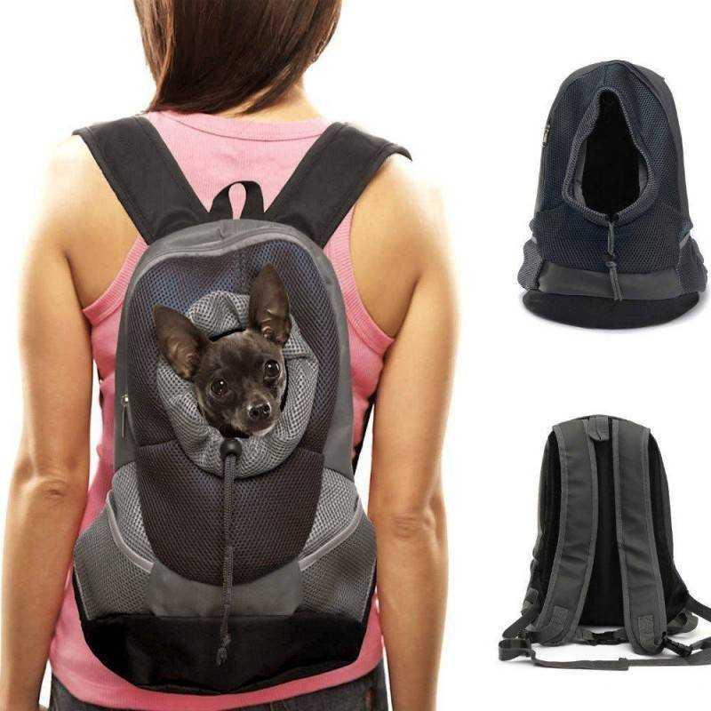 Zaino da spalle trasportino doppia spalla per animale domestico cane gatto borsa