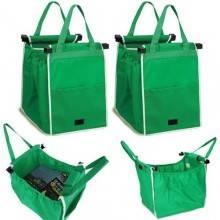 Sacco borsa incastro carrello della spesa stoffa manici shopping ripiegabile