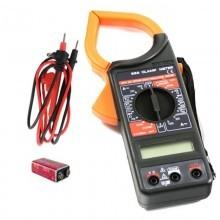 Multimetro DT266 pinza amperometrica tester digitale puntali regolabile