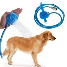 Accessorio lavaggio cane doccia silicone tubo giardino pet toelettatura toletta