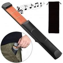 Mini chitarra tascabile 6 Corde 4 Tasti pratica allenamento musicale idea regalo