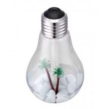 LAMPADINA Diffusore aromi umidificatore aromaterapia lampada RGB palma sassi USB