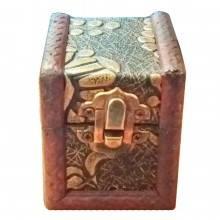 Bauli anticati fatti a mano legno scatole artigianali contenitori portagioie