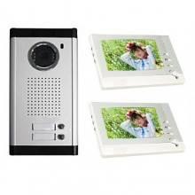 """Citofono doppio videocitofono schermo lcd 7"""" due appartamenti microfono casa"""