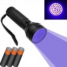 51 LED UV Mini torcia portabile raggi violetti ispeziona macchie fluidi batterie