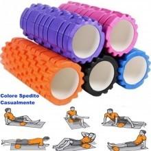 Rullo massaggiante massaggio yoga roller schiuma griglia Trigger Palestra Sport