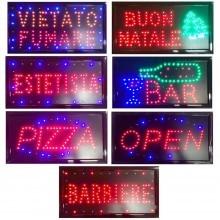 Insegna luminosa LED insegne luminose scritta elettrica negozi vetrina bar pub