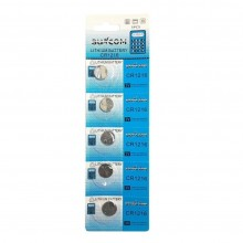 5 pacchi 25 batterie pile CR1220 batteria bottone pila piatta piatte 3V assortite