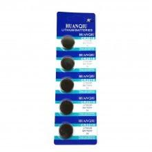 5 pacchi 25 batterie pile CR1620 batteria bottone pila piatta piatte 3V assortite