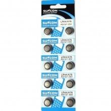 5 pacchi 50 batterie pile LR43 AG12 batteria bottone pila piatte 1,55V assortite