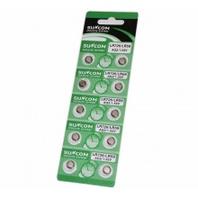 5 pacchi 50 batterie pile LR721 AG11 batteria bottone piatte 1,55V assortite