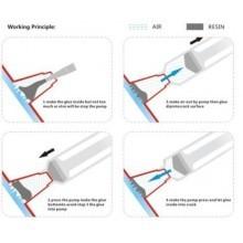 Kit riparazione parabrezza torcia UV asciugatura resina auto crepe scheggiature