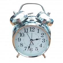 Sveglia orologio analogico americana alluminio martellino classica lancette