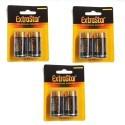 3 pacchetti 6 batterie torcia D torcione lunga durata 1,5V pile batteria pila