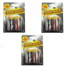 3 pacchi 12 batterie AAA 1,5V R03-4B lunga durata pile batteria pila ministilo