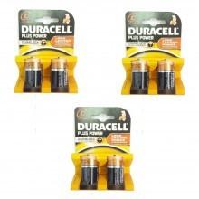 3 pacchetti 6 batterie C mezza torcia R14-UM2 lunga durata pile batteria torce