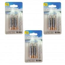 3 pacchi 12 batterie AA telecomando lunga durata pile batteria LR6 MN1500 stilo