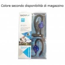 EV5124SL Cuffie sport in ear cavo jack 3,5 mm 1,2m cuffietta gommino bianco
