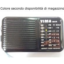 QQ26 Radio portatile batteria AM FM antenna laccetto analogica