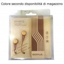 PP cuffie in ear cavo jack 3,5 mm cuffiette sport semplici smartphone cellulare