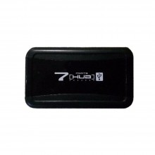 HUB 7 porte USB alimentato porta chiavetta pennetta LED moltiplicatore