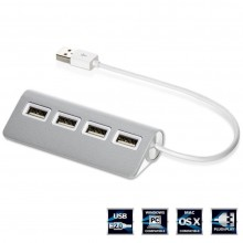 HUB 8 porte USB alimentatore porta chiavetta pennetta LED moltiplicatore 60 cm