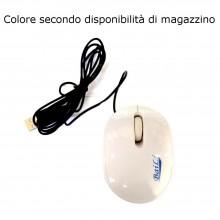 Mouse ottico mini cavo USB tre tasti computer windows mac universale cablato