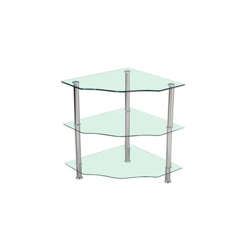 Tavolino angolo tavolo vetro temperato 3 livelli casa salotto stile ...