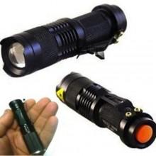 Mini torcia tattica militare LED 5000 lumens zoom alluminio campeggio trekking