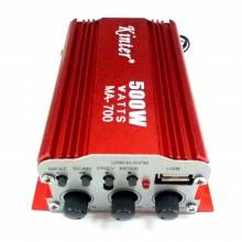Amplificatore stereo microfono due ingressi USB karaoke radio FM AUX musica