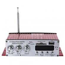 Amplificatore stereo HI-FI 12V MP3 USB auto barca 50W 20HZ 85 dB audio radio
