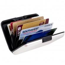 Porta carte credito rigido documenti portafoglio tessere banconote conchiglia